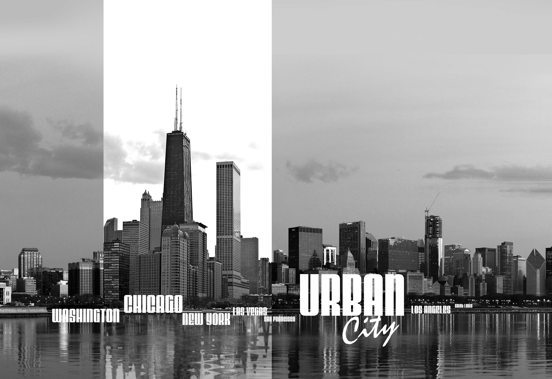 City Cities Skyline PHOTO WALLPAPER WALL MURAL ROOM DECOR 052VE 1920x1320