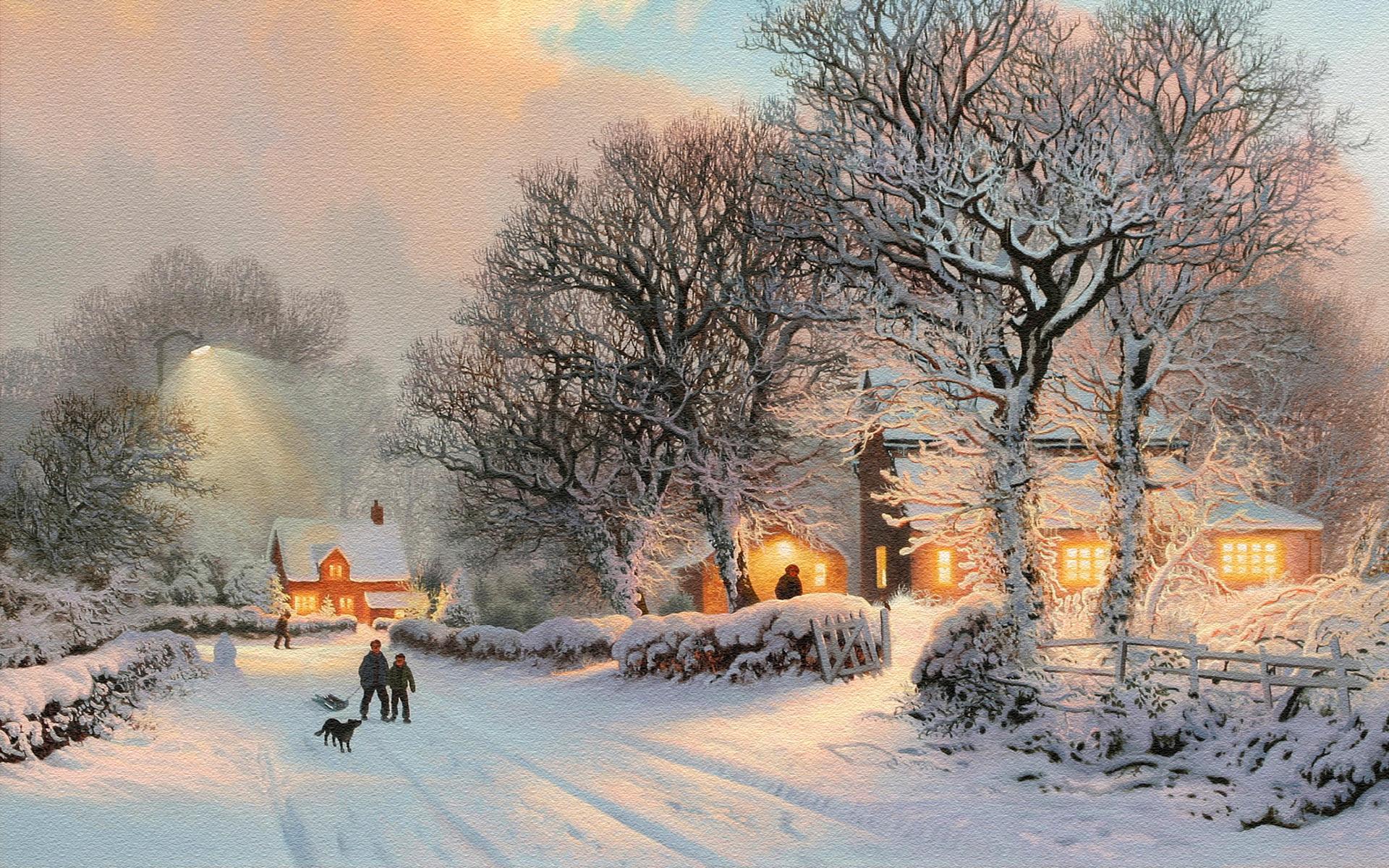 Nyc Winter Scenes Wallpaper Wallpapersafari
