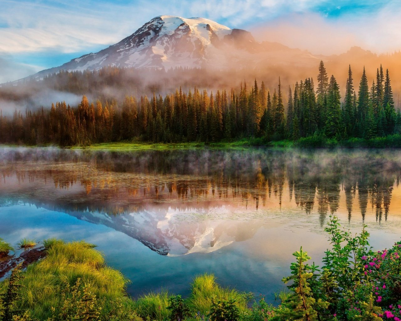 1280x1024 Mount Rainier Landscape desktop PC and Mac wallpaper 1280x1024