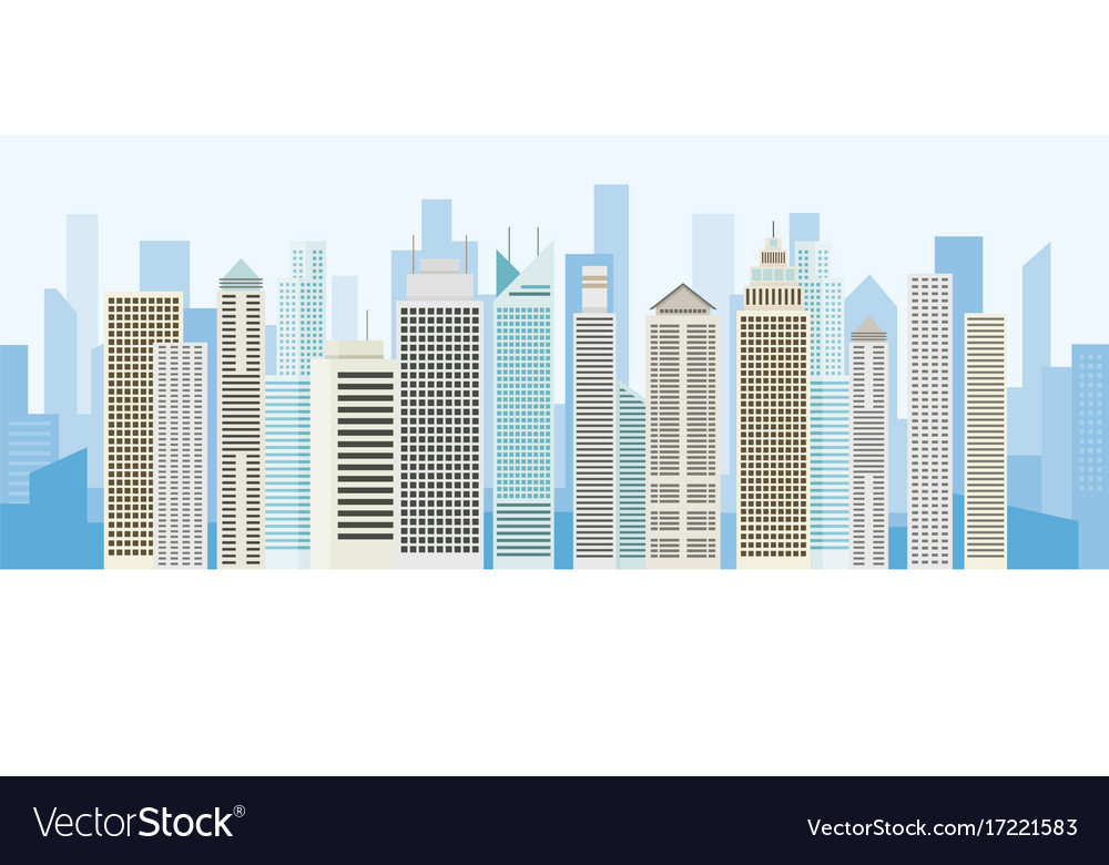 Buildings and skyscrapers background panorama Vector Image 1000x780