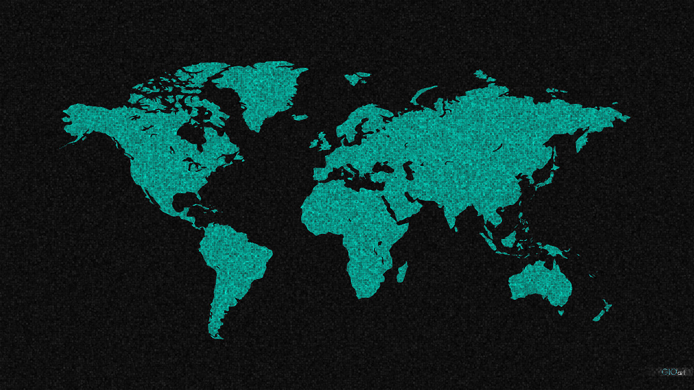 World map wallpaper by gio0989 1366x768