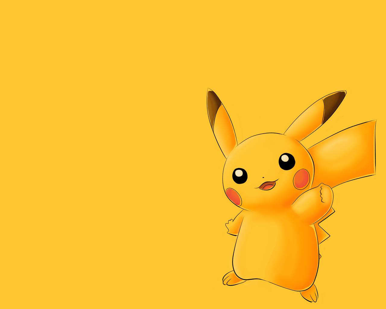 Pikachu Wallpaper A yellow wallpaper with Pikachu on it 1280x1024