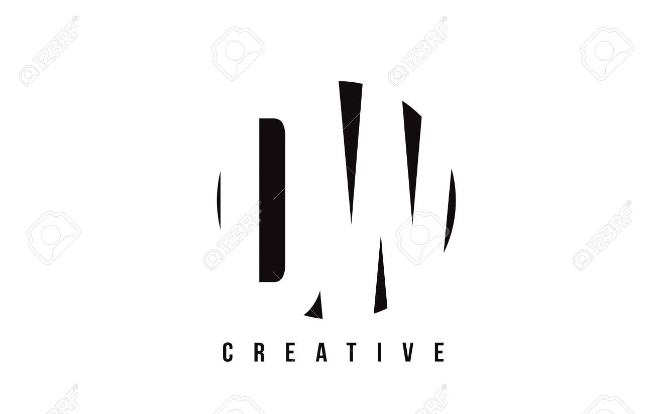 DW D W White Letter Logo Design With Circle Background Vector 1300x825