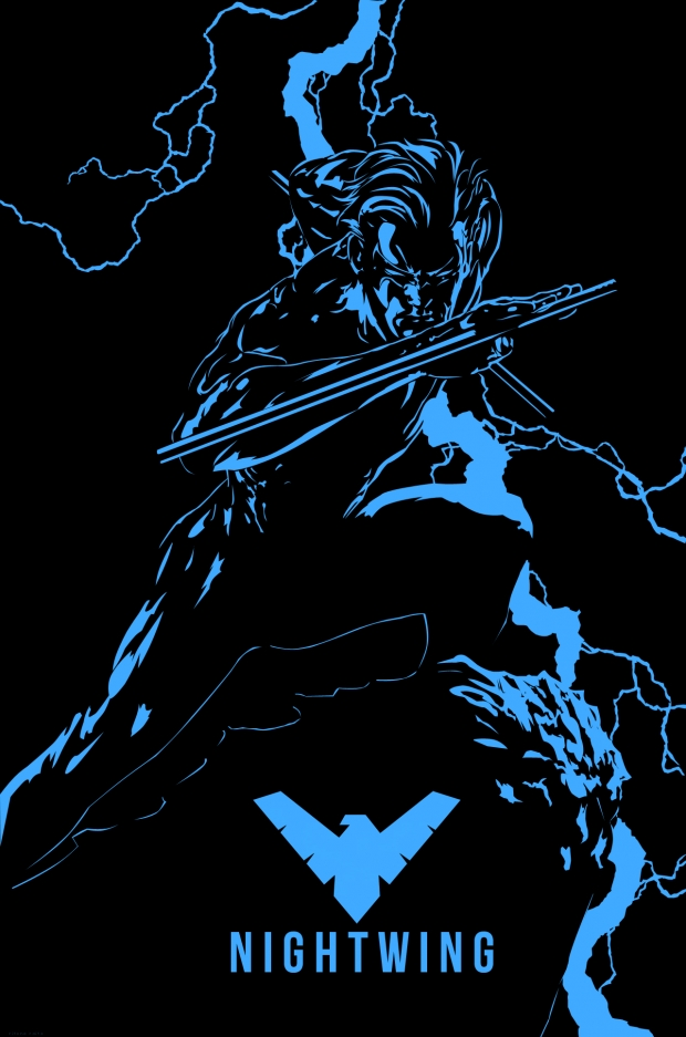 Nightwing Iphone Wallpaper Nightwing calls by 620x937
