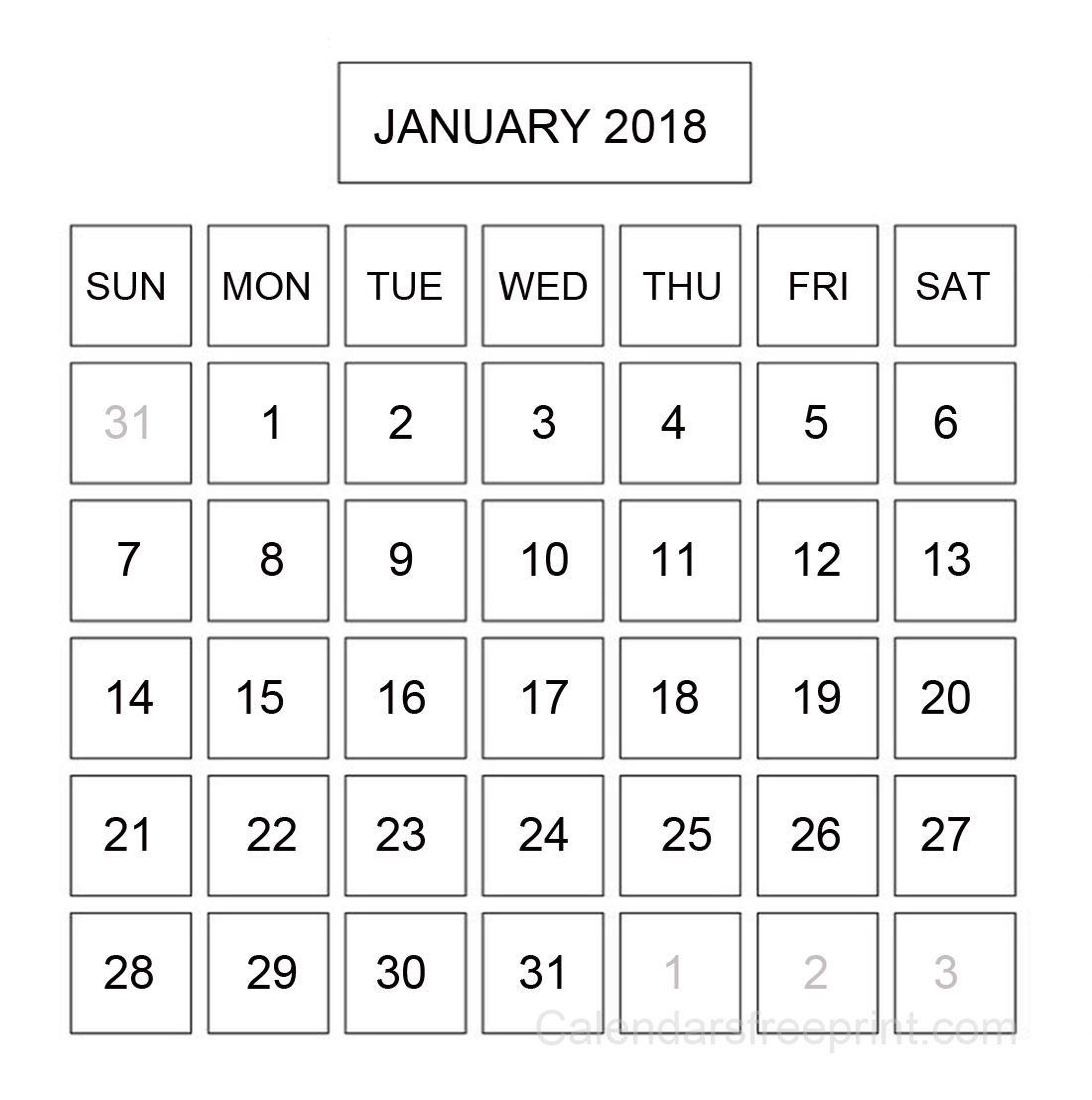 January 2018 Desktop Calendar mathmarkstrainonescom 1100x1108