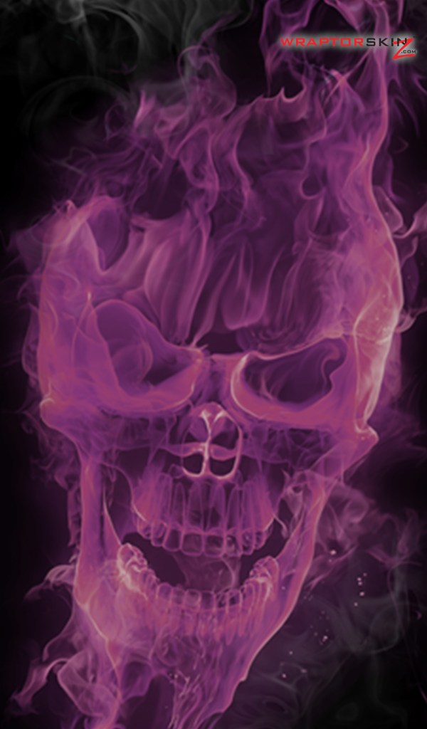 Amazon Kindle Fire Original Decal Style Skin   Flaming Fire Skull 600x1024