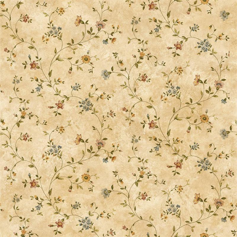Light Brown Antique Floral Vine Wallpaper 800x800