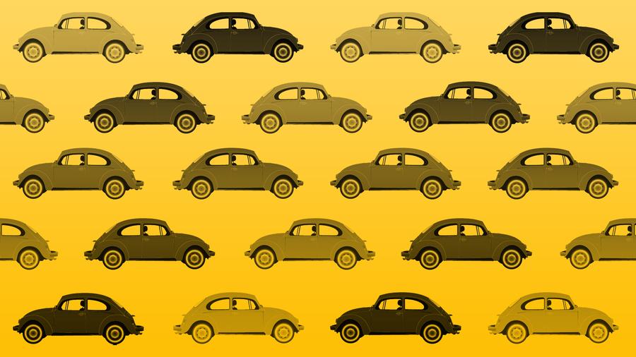 VW Beetle Wallpaper   Yellow by vw beetle 900x506