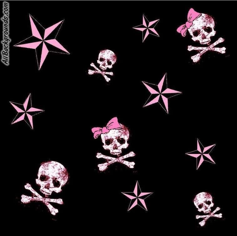 Pink Skulls Backgrounds   Twitter Myspace Backgrounds Skull 758x754