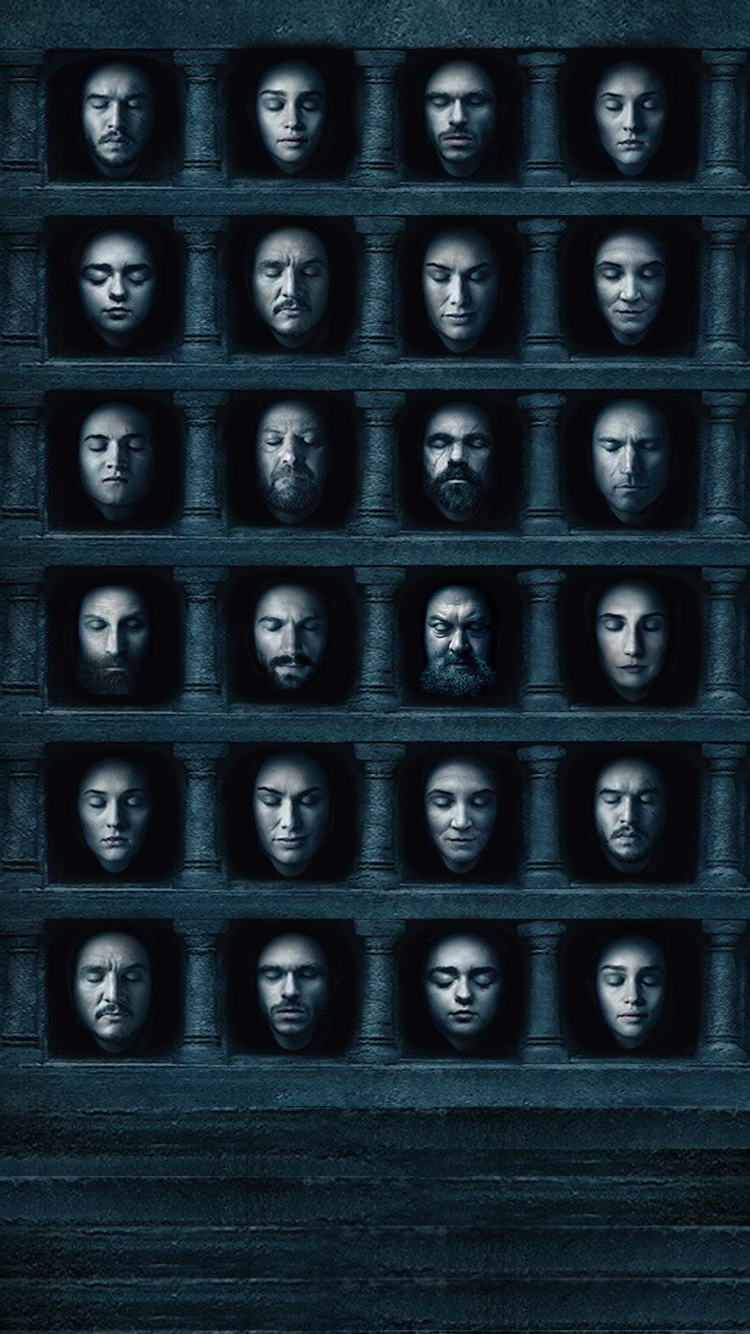 NO SPOILERS] I made a Hall of Faces wallpaper for my iPhone 6 750x1334