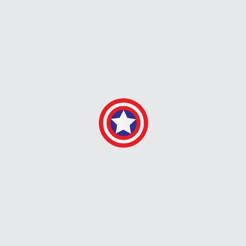 Minimal Captain America Shield Wallpaper For Samsung Star 500x500
