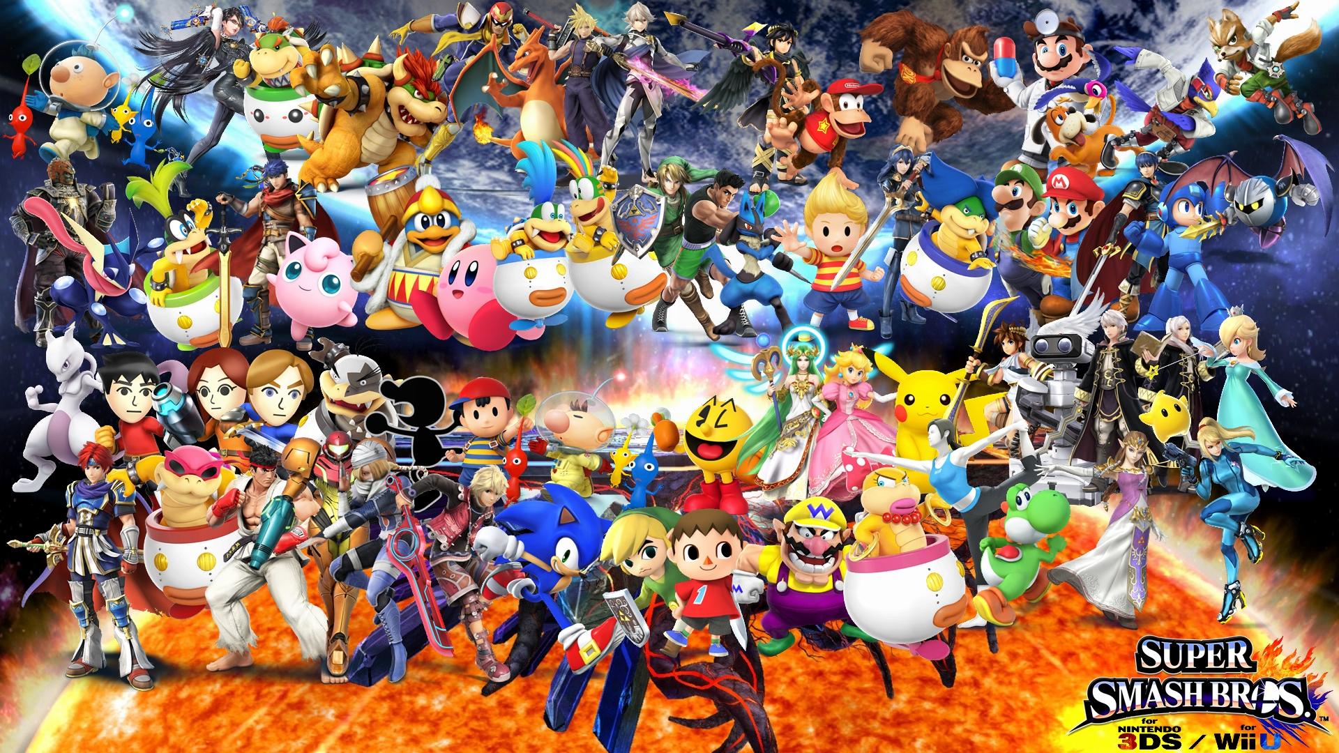 Free Download Super Smash Bros 4 Wallpaper By Yoink13 1920x1080