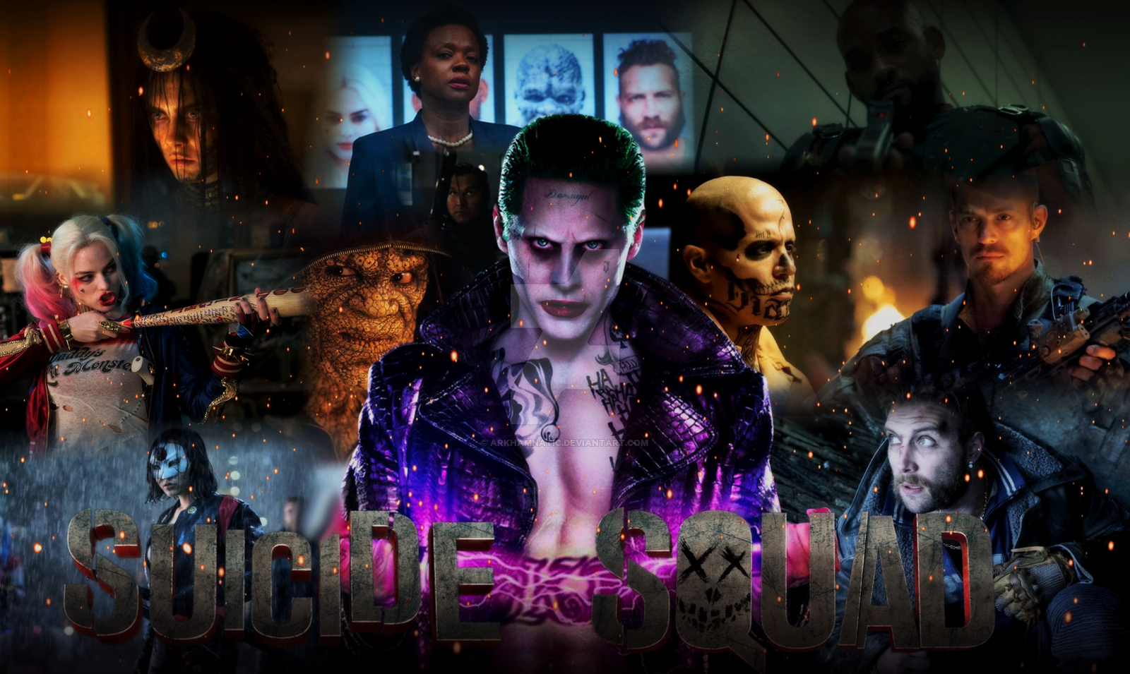 Suicide Squad Movie wallpaper by ArkhamNatic 1600x955