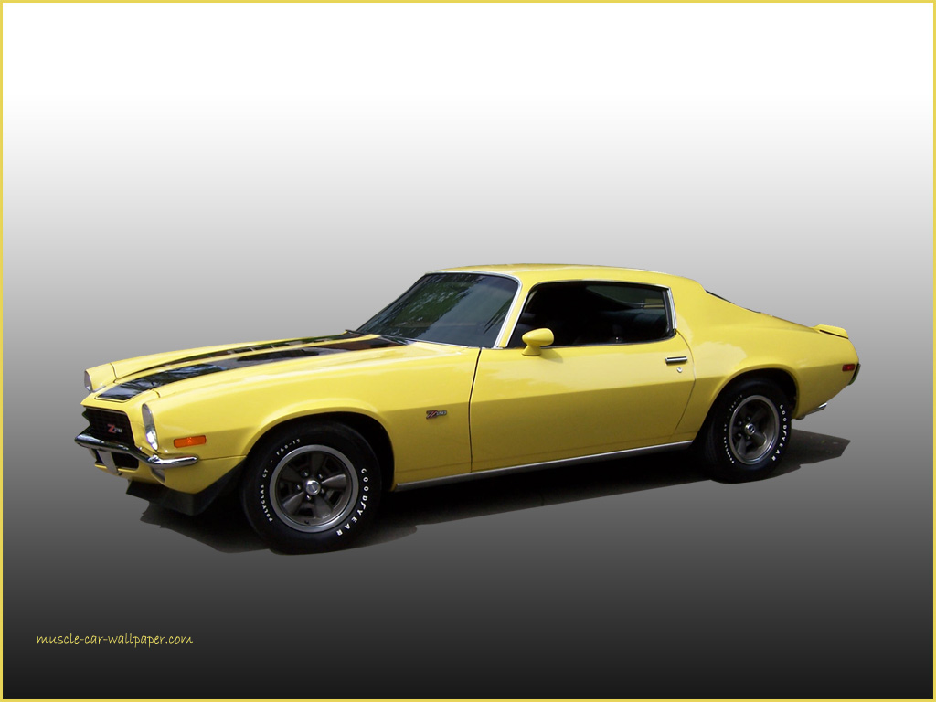 1970 Camaro Z28 Wallpaper   Yellow Sport Coupe   Left Side View 1024x768