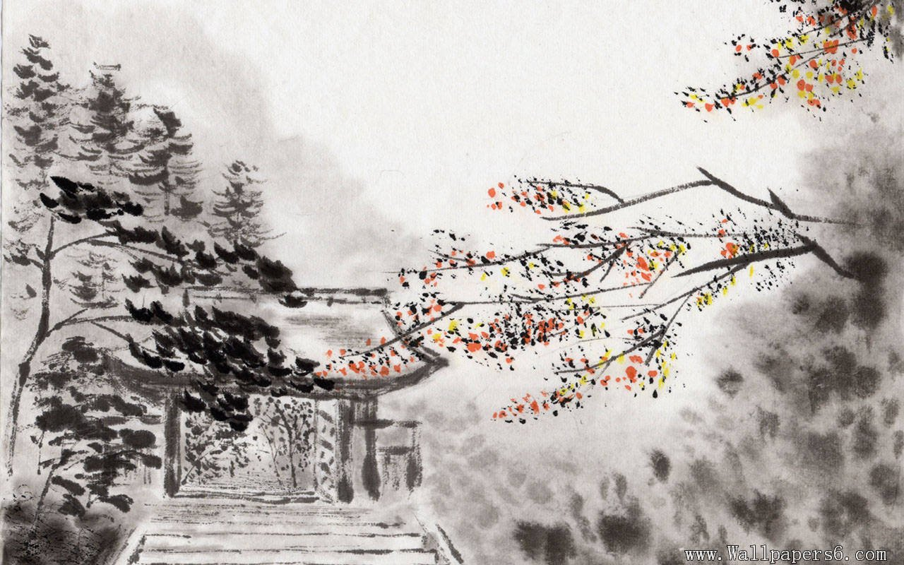 Chinese ink landscape paintings Paintings Wallpapers 1280x800