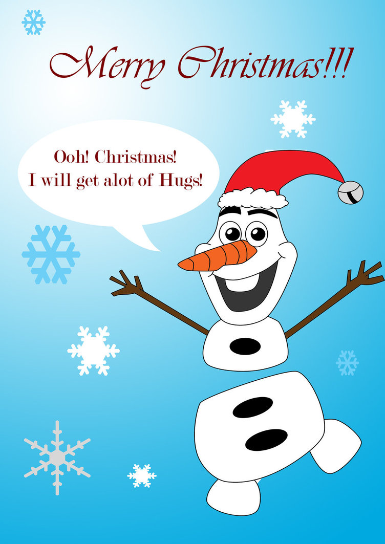 Merry Christmas from Olaf by VioletRoseDragon14 752x1063