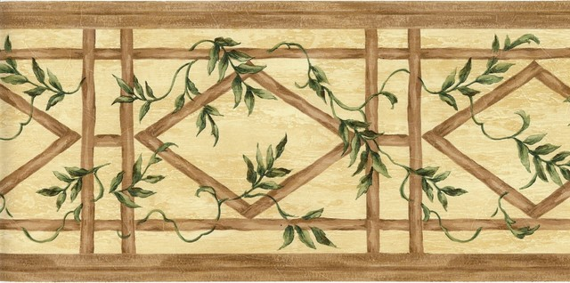 Vine Leaf Bamboo Kitchen Bath Wallpaper Border tropical wallpaper 640x318
