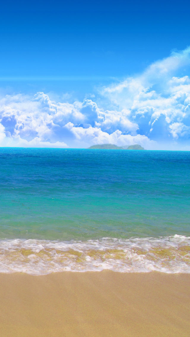 Beach Wallpaper For Iphone   Zee En Strand Achtergrond 640x1136