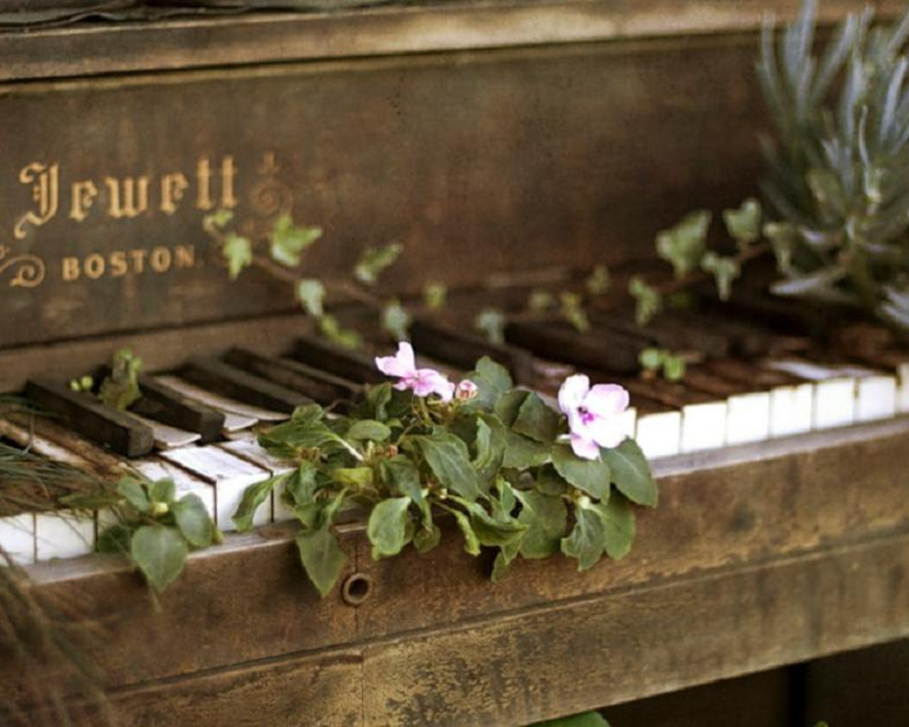 Piano Vintage Wallpaper 1280x1024 Photography Retro