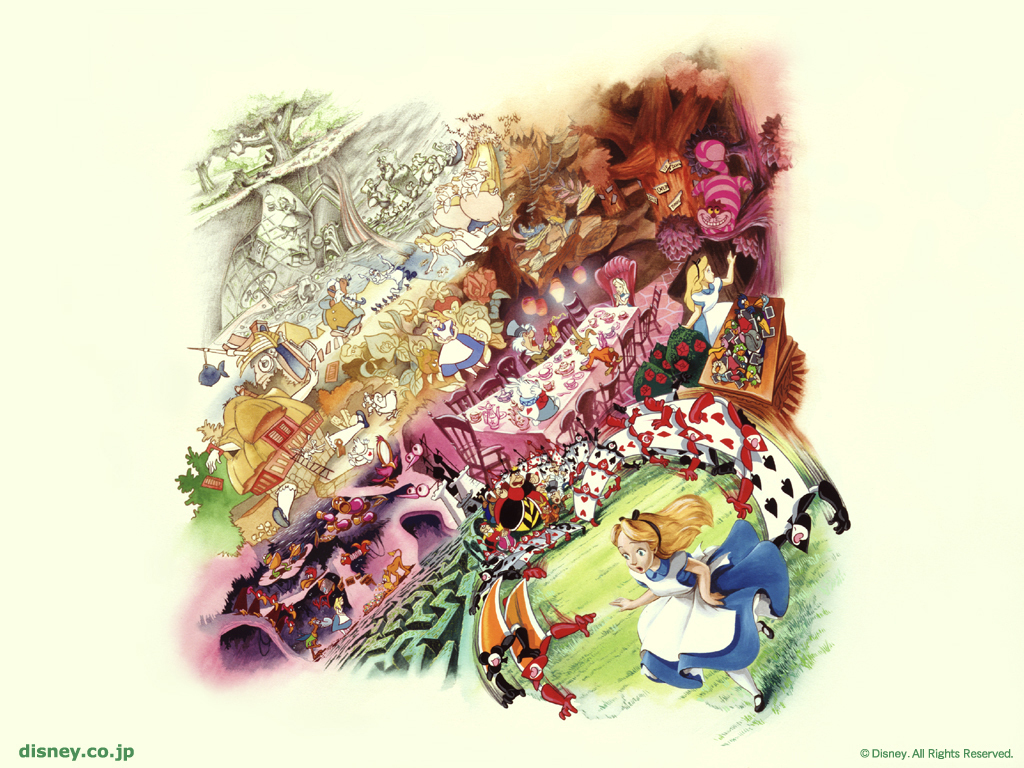 48 Disney Alice In Wonderland Wallpaper On Wallpapersafari