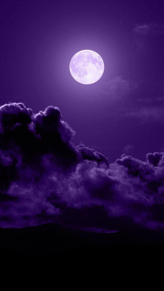 Purple nature wallpapers and screensavers wallpapersafari - Purple moon wallpaper ...