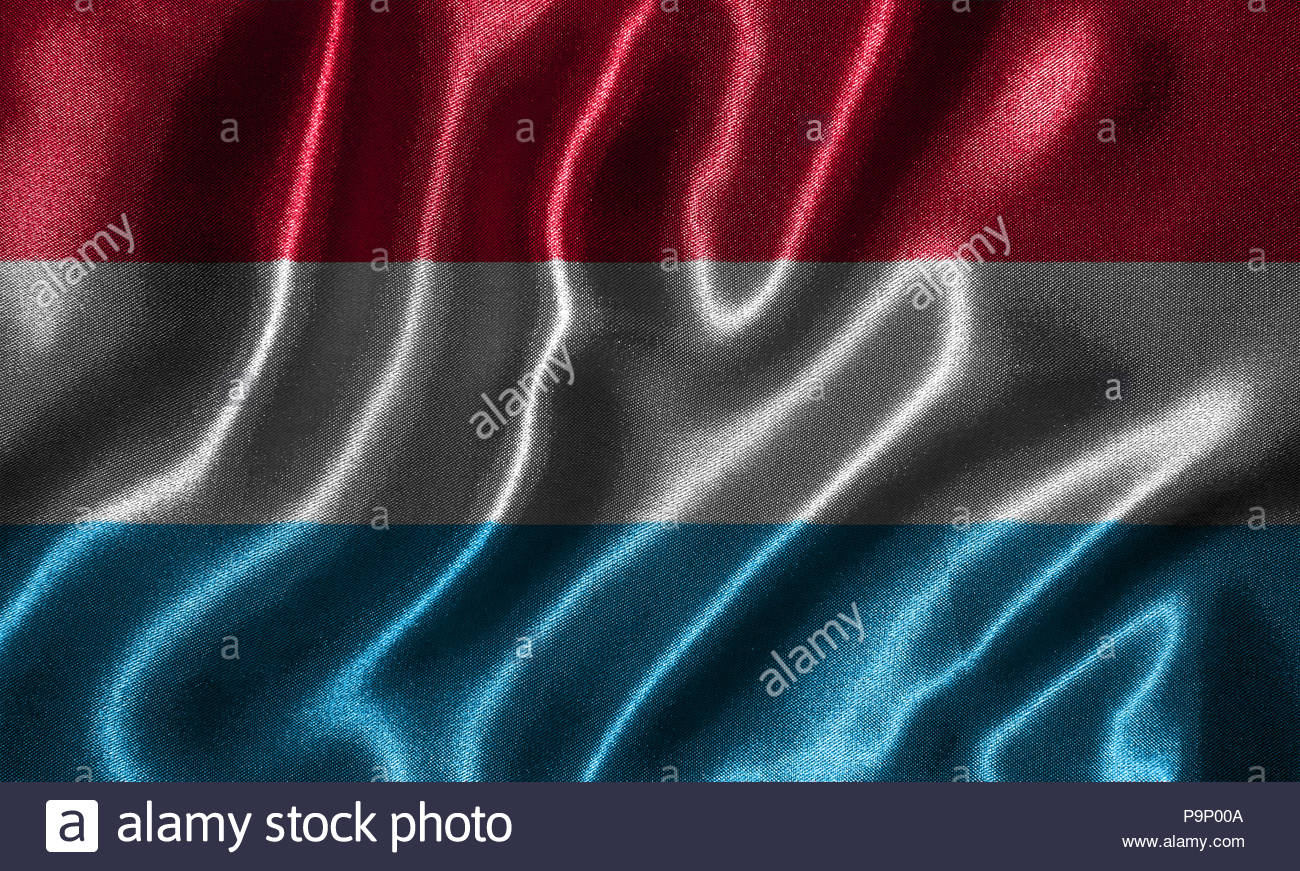 Luxembourg flag   Fabric flag of Luxembourg country Background 1300x871