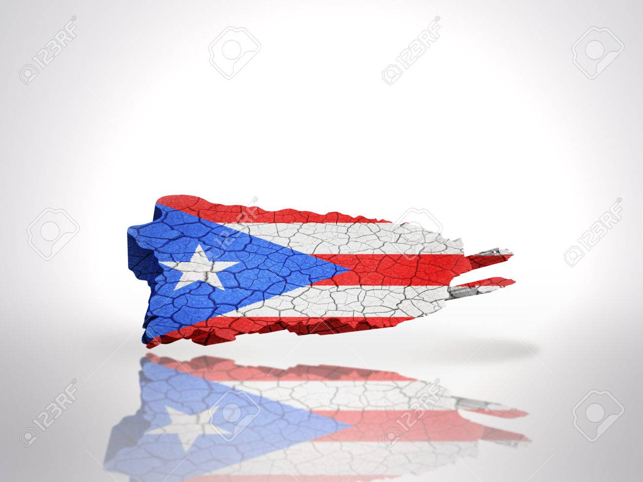 Free Download Map Of Puerto Rico With Puerto Rican Flag On A White