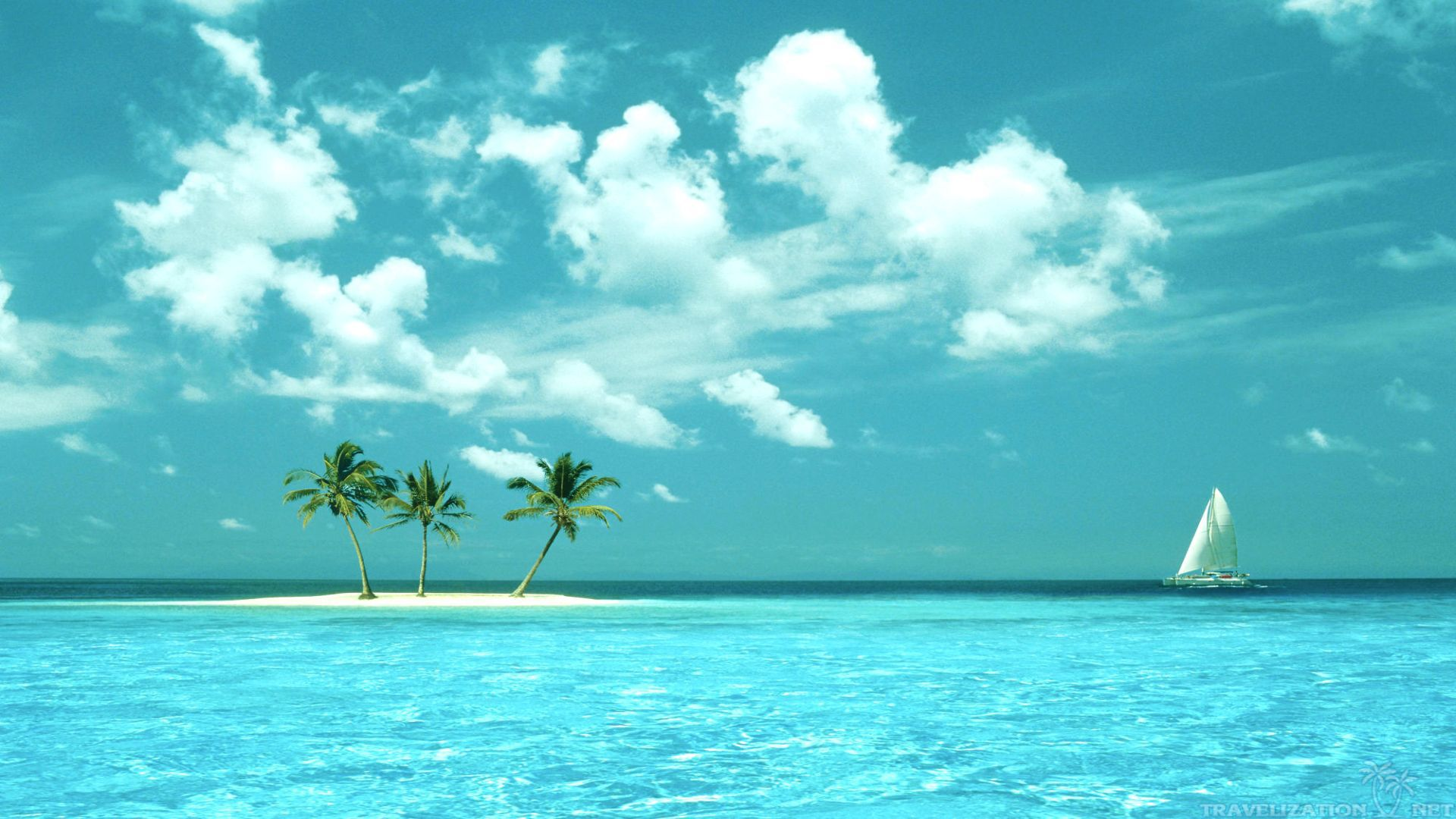 Beautiful Island Pictures For Wallpaper: Tropical Island Paradise Wallpaper