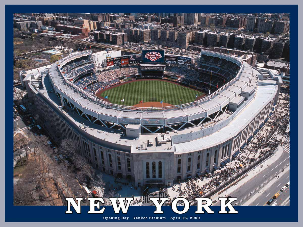 New York Yankee Stadium Puzzle   White Mountain Puzzles 1200x899