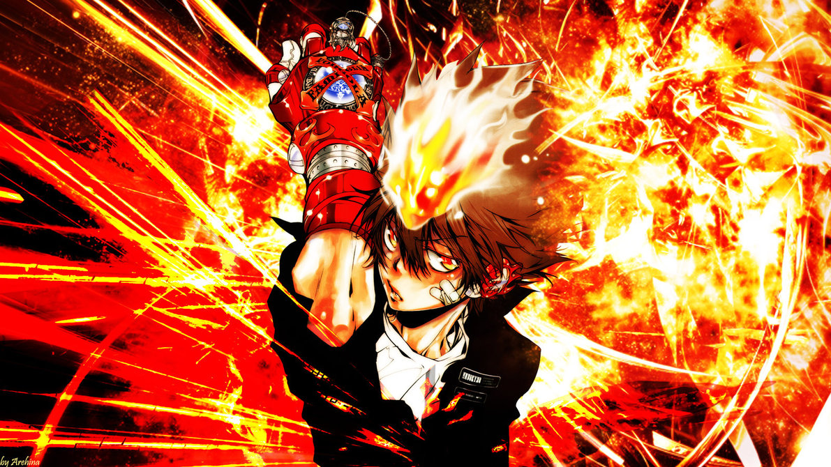 Katekyo Hitman Reborn Tsuna Wallpaper by Arehina 1191x670