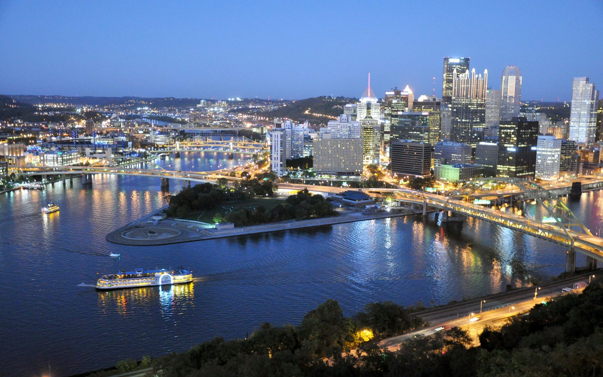 Pittsburgh At Twilight 2560x1600 926 HD Wallpaper Res 2560x1600 2560x1600