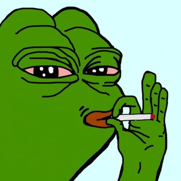 smoking Pepe the Frog Know Your Meme 600x600