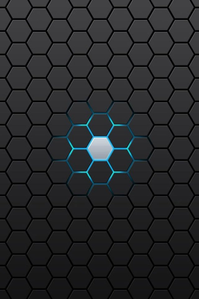 hd abstract black hexagon iphone 4 wallpapers backgrounds 640x960