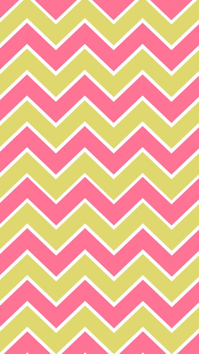 BackgroundsWallpapers ChevronPink Lime Gray Yellow Gray Orange 640x1136