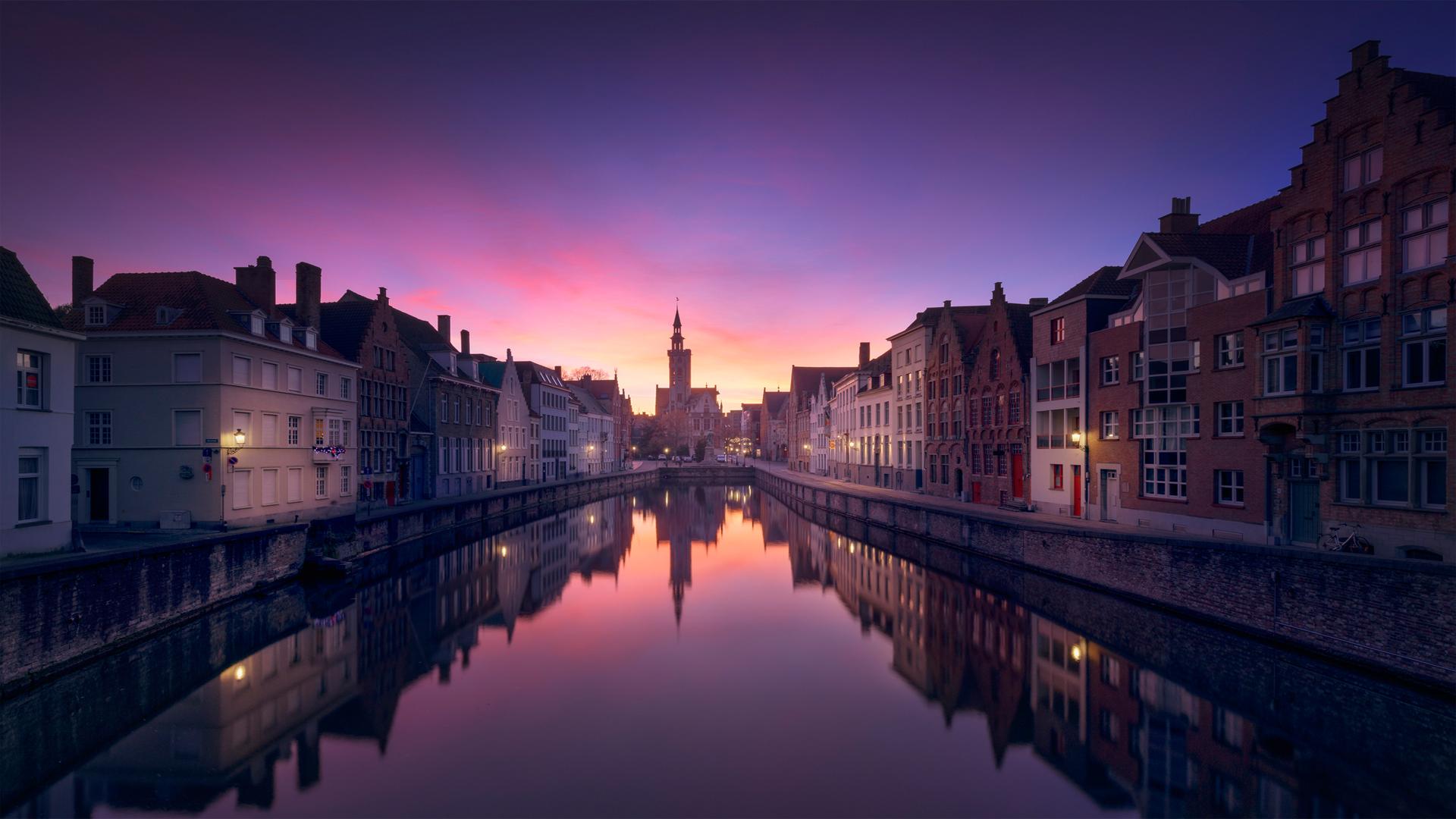 Brugge Sunset [1920x1080] wallpaper 1920x1080