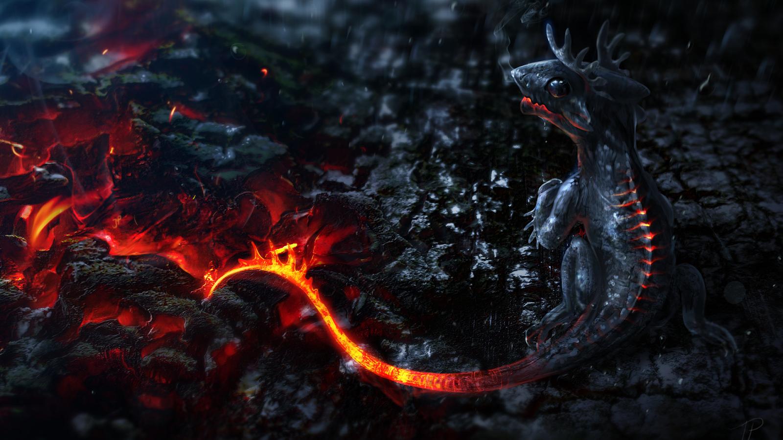HD Wallpapers 1080P Little dragon 3D 1600x900
