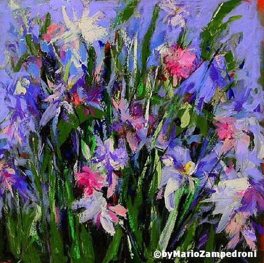 Impression flowers oil paintingdafen oil painting village   Flower 525x524