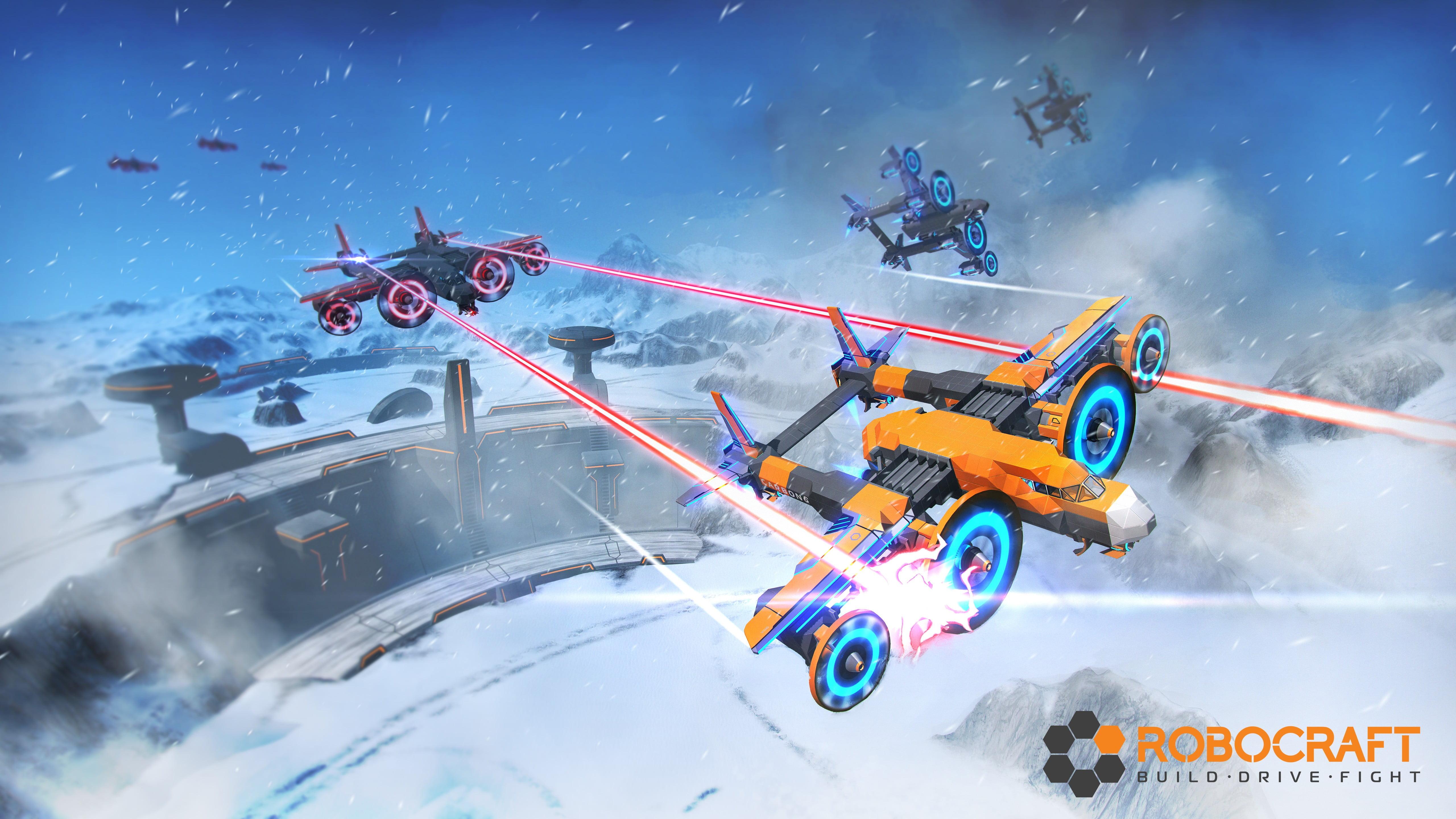 Robocraft toy spaceships robocraft video games robot HD 5120x2880
