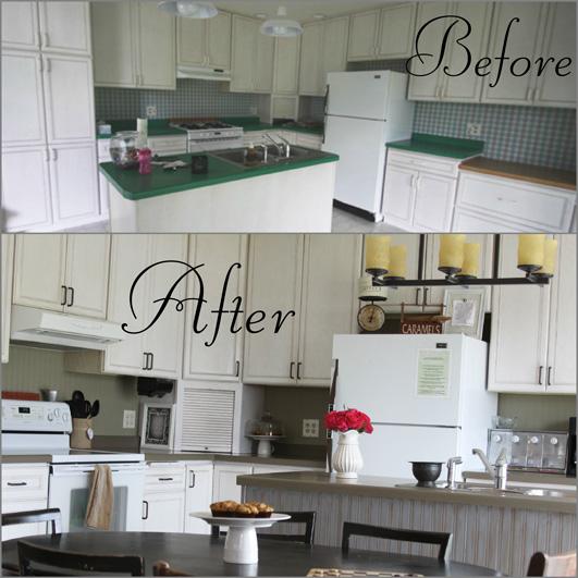 Kitchen Backsplash Using Beadboard Wallpaper  Transform Your Home On A 531x531