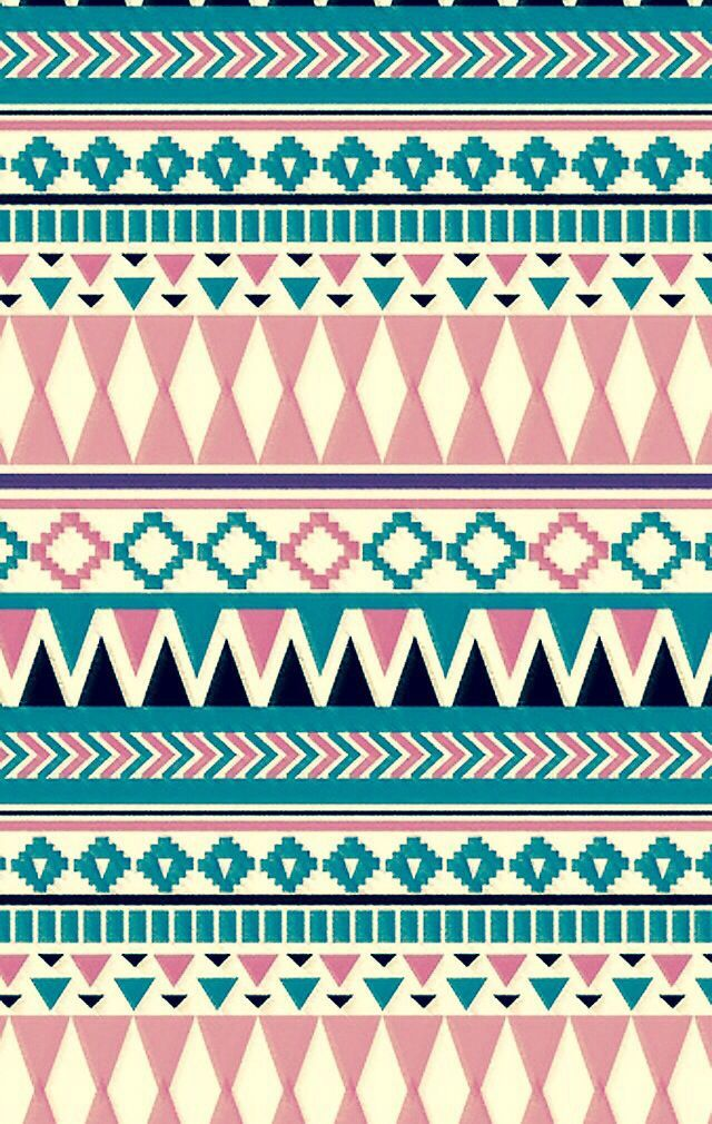 Light pink and blue Tribal print Wallpapers Pinterest 640x1010