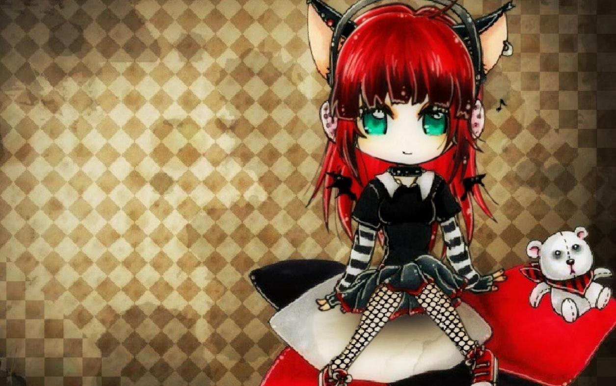 Cute emo scene punk girl cat   148745   High Quality and Resolution 1255x786