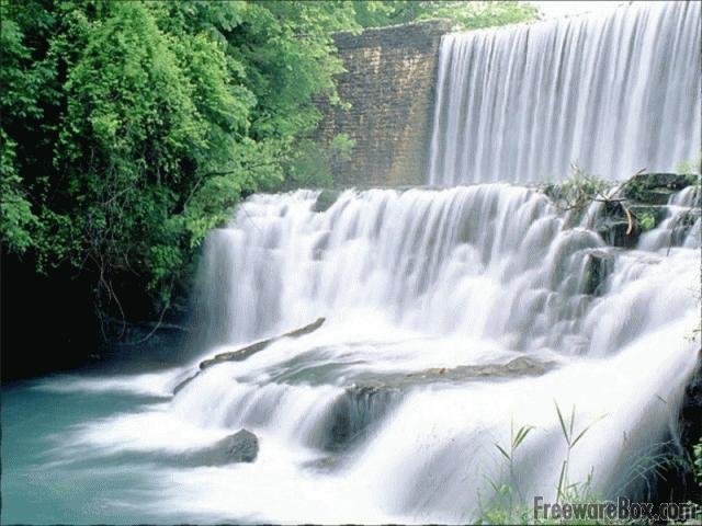 Waterfall Screensaver freeware screenshot   Screensavers   Nature 640x480