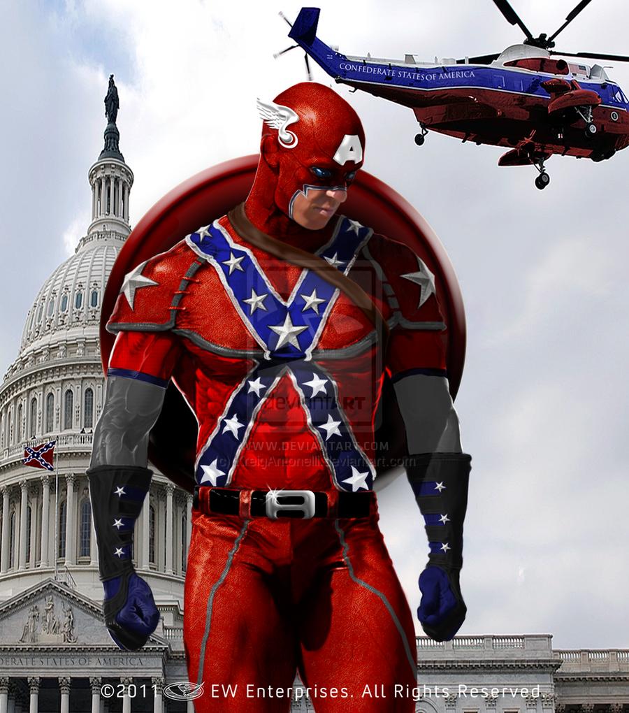 Confederate Captain America by KreigAntonelli 900x1020