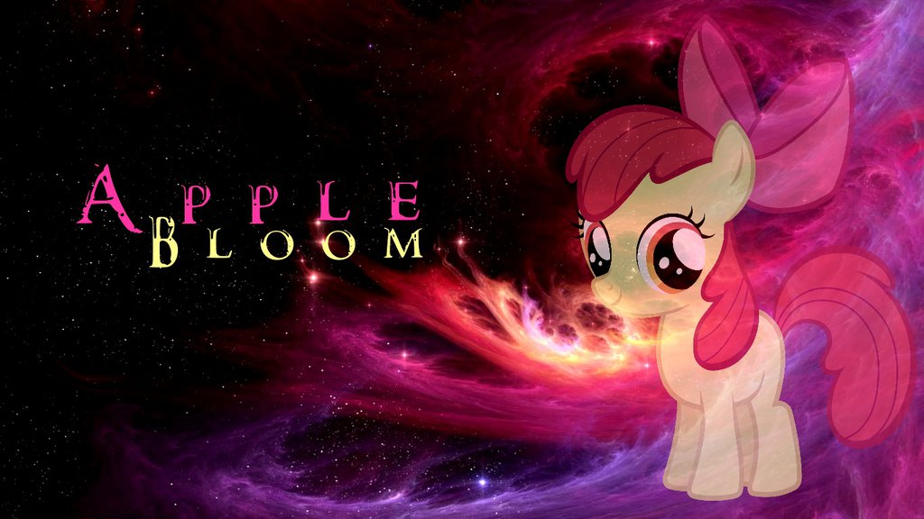 MLP Apple Bloom [Wallpaper] by Dovahbruh 1024x576