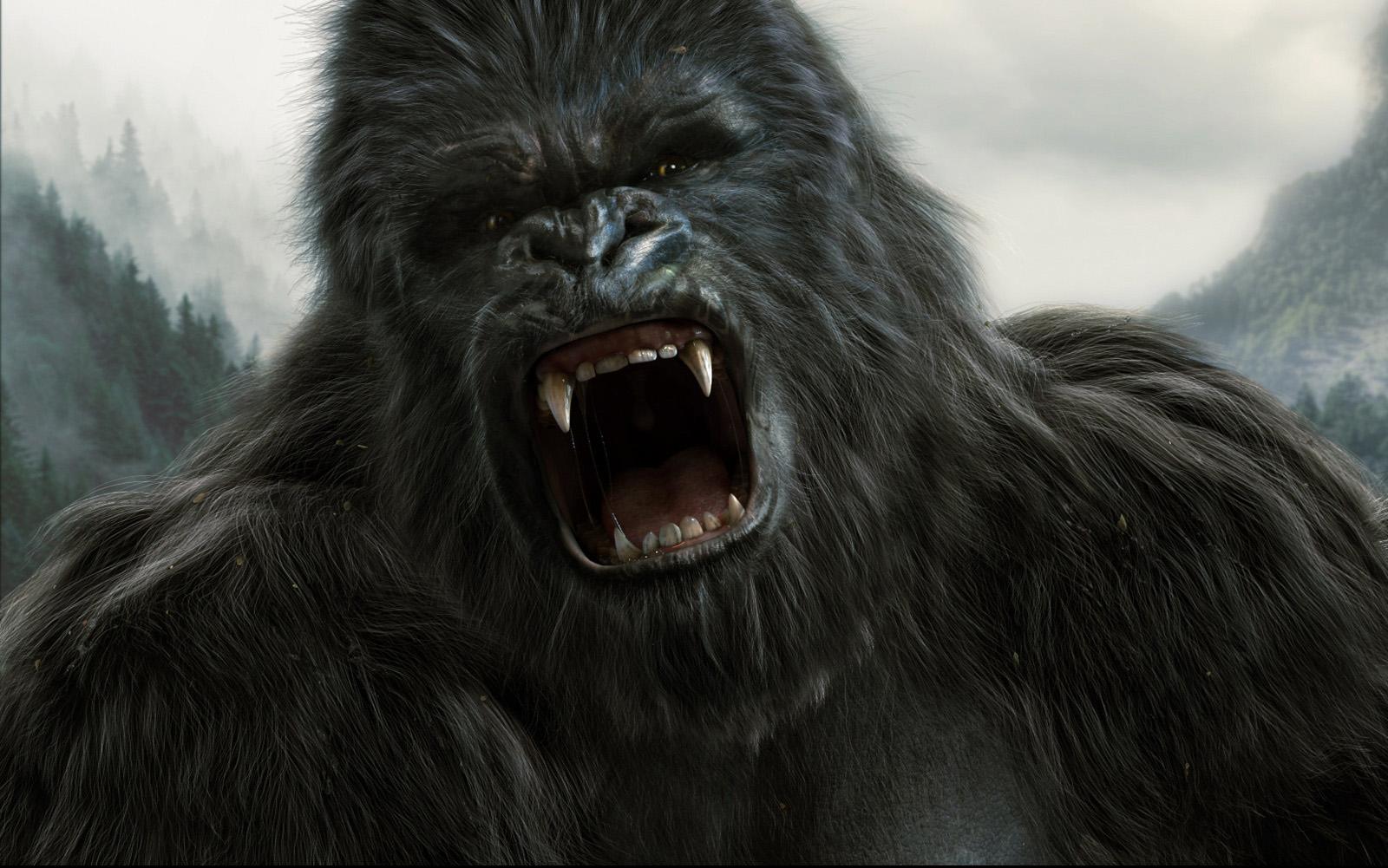 Portrait King Kong   3D Illustrations Photoshop Portrait 1600x1001