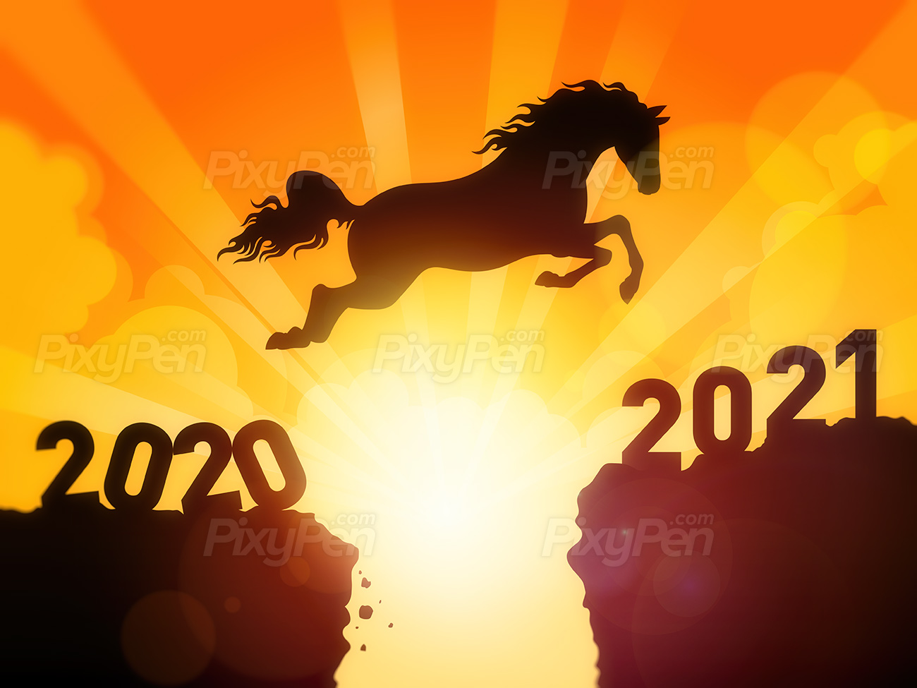 Horse jumping to New Year 2021   Wallpaper and Background PixyPen 1300x975