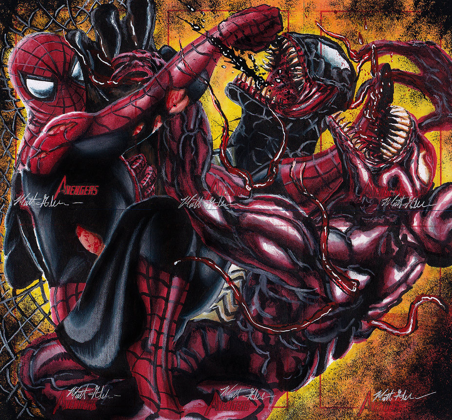 black spiderman vs carnage - photo #13