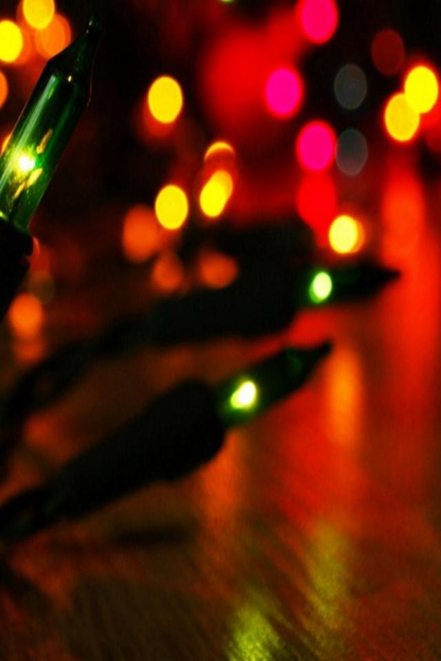 Christmas Lights Iphone Wallpaper Hd 640x960