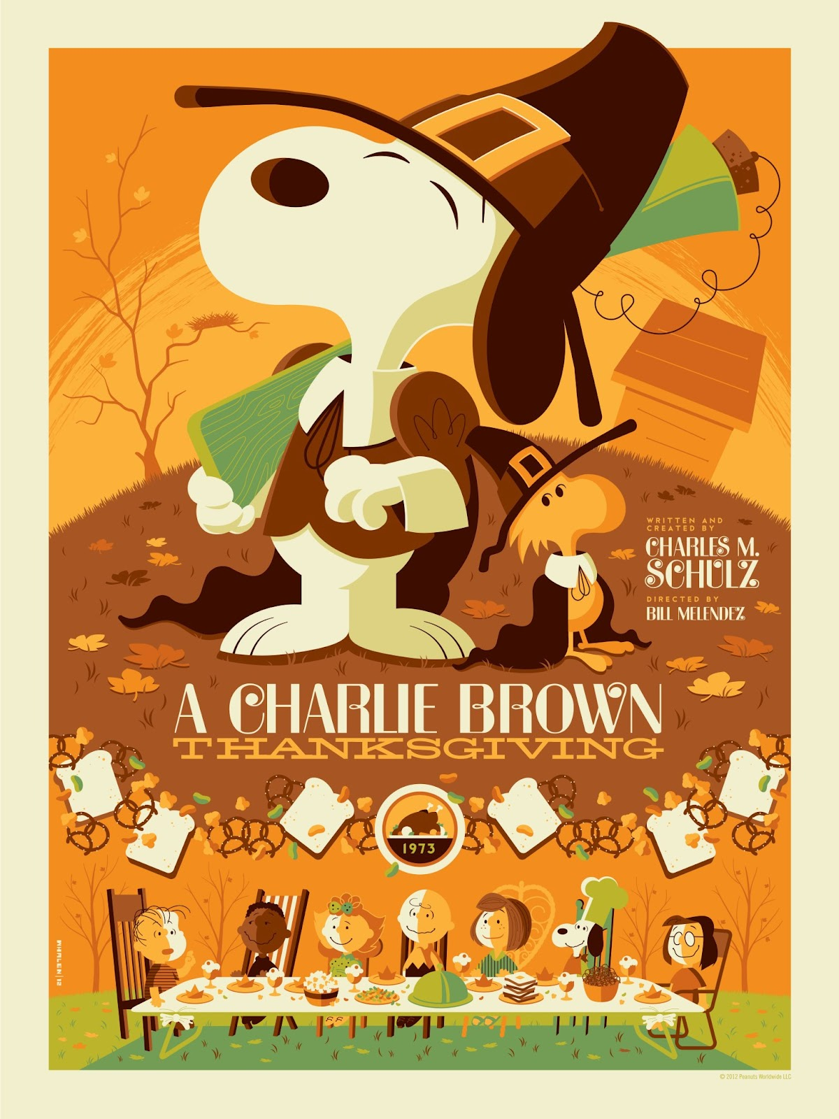 The Blot Says A Charlie Brown Thanksgiving Screen Prints by 1200x1600