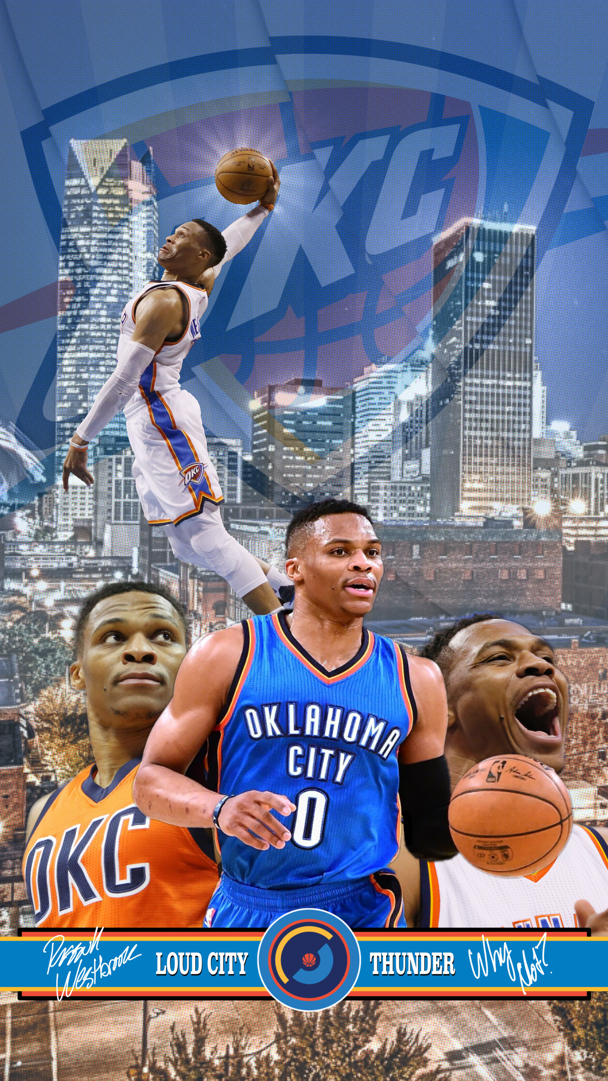 Oklahoma City Thunder Wallpaper of the Month Russell Westbrook 1200x2133